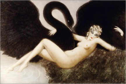 Premium poster  Leda and the swan - Louis Icart