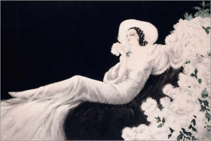 Aluminium print  Loves the bloom - Louis Icart