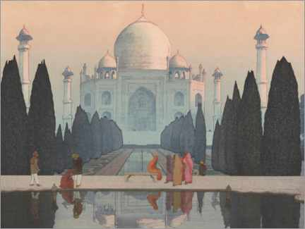 Canvas print  Morning mist in the Taj Mahal - Yoshida Hiroshi