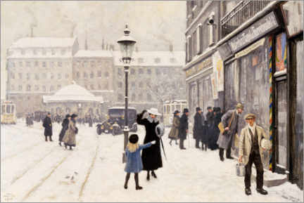 Premium poster  The Österbrogade in winter - Paul Fischer