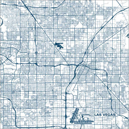 Canvas print  Map of Las Vegas - 44spaces