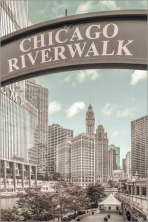 Premium poster  On the banks of the Chicago River - Melanie Viola
