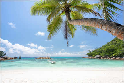 Premium poster Beach vacation in the Seychelles