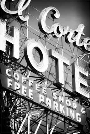 Canvas print  Black Nevada - Vegas Hotel Sign - Philippe HUGONNARD