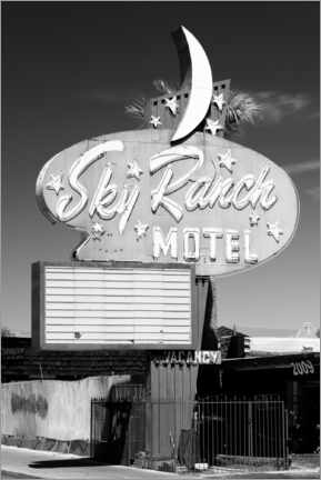 Canvas print  Black Nevada - Vegas Sky Ranch Motel - Philippe HUGONNARD