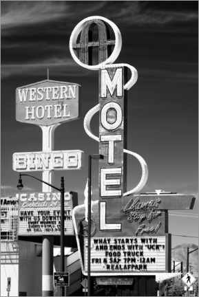 Canvas print  Black Nevada - Vegas Bingo Motel - Philippe HUGONNARD