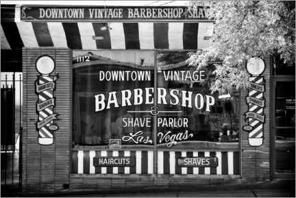 Canvas print  Black Nevada - Barbershop Las Vegas - Philippe HUGONNARD