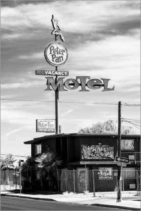 Canvas print  Black Nevada - Peter Pan Motel Old Vegas - Philippe HUGONNARD
