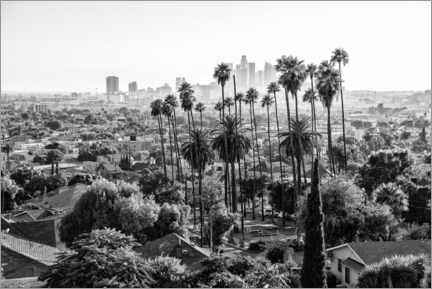Canvas print  Black California - The Los Angeles Skyline - Philippe HUGONNARD