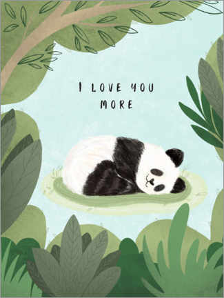 Acrylic print  I love you more - Nikita Jariwala