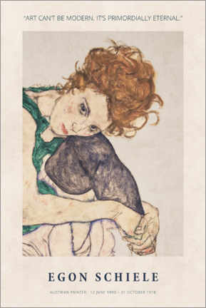 Canvas print  Schiele - Primordially eternal - Museum Art Edition