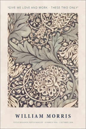 Acrylic print  William Morris - Love and work - Museum Art Edition