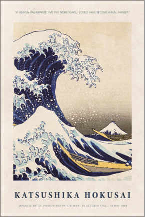 Acrylic print  Katsushika Hokusai - Five more years - Museum Art Edition