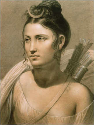 Premium poster  Young woman as Diana - Jozef Frans Ducq