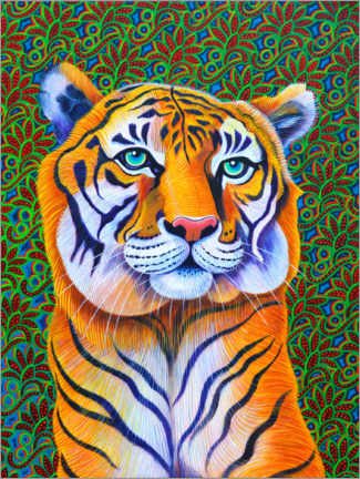 Canvas print  Tiger - Jane Tattersfiel