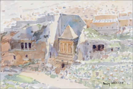 Premium poster  Ancient tombs in the Kidron Valley, Jerusalem - Lucy Willis
