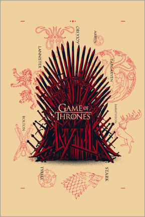 Premium poster  GOT - throne and houses