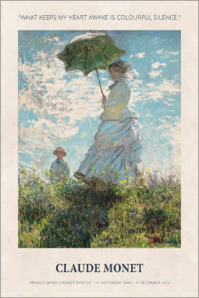 Gallery print  Claude Monet - Colourful silence - Museum Art Edition
