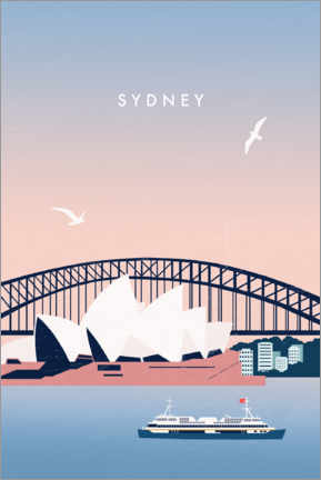 Wall sticker  Sydney Travel Poster - Katinka Reinke
