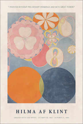 Premium poster  Hilma af Klint - With great power - Museum Art Edition