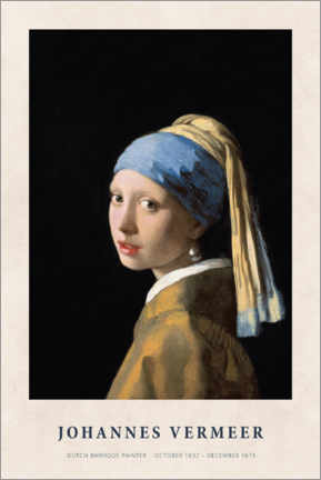 Acrylic print  Jan Vermeer - Girl with a Pearl Earring - Museum Art Edition