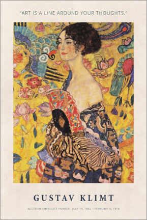 Acrylic print  Gustav Klimt - A line around your thoughts - Museum Art Edition