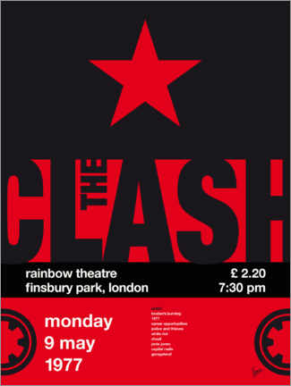 Wall sticker The Clash Concert Poster