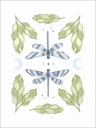 Wall sticker  Dragonfly Night - Barlena