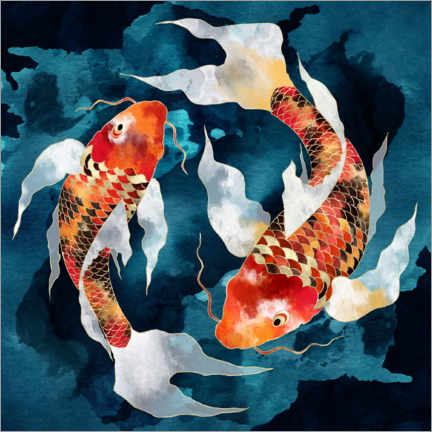 Foam board print  Metallic Koi II - SpaceFrog Designs