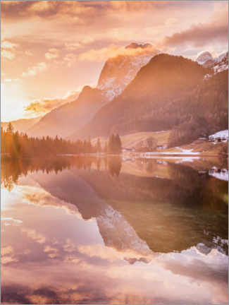 Foam board print  Magic forest on the Hintersee - Fotomagie