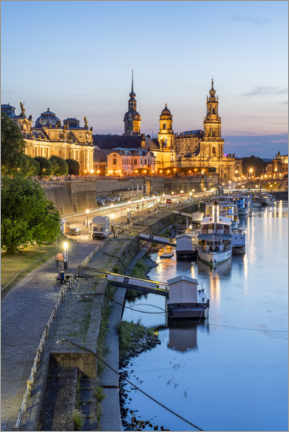Acrylic print  Dresden old town in the evening - Jan Christopher Becke