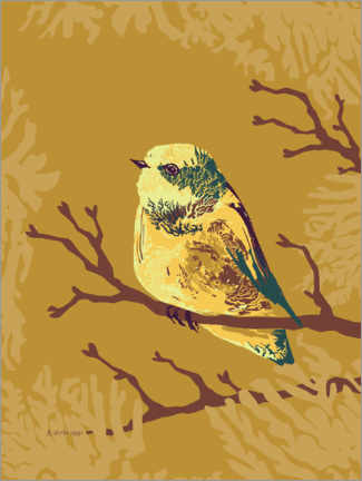 Gallery print  Bird in the autumn forest - Verbrugge Watercolor