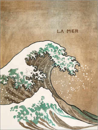 Canvas print  The wave - Katsushika Hokusai