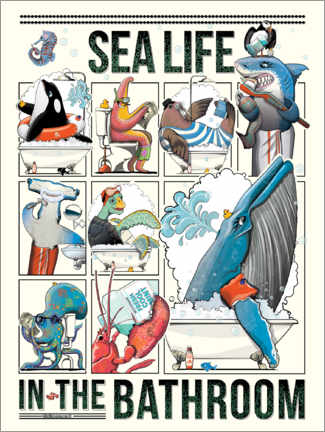 Premium poster  Sea life in the Bathroom - Wyatt9