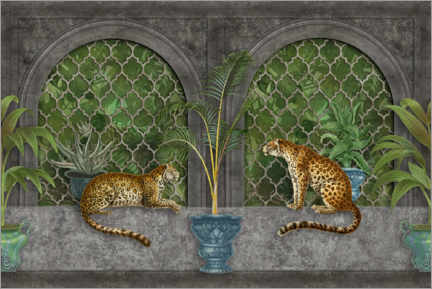 Canvas print  Cheetahs in the jungle palace - Andrea Haase