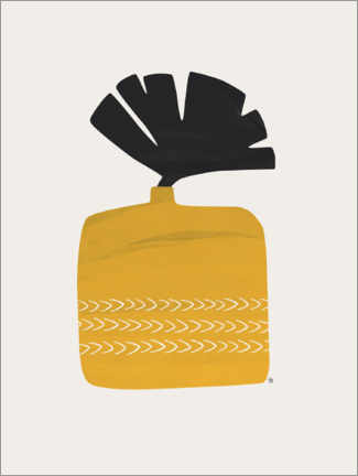Canvas print  Plant in Yellow Ochre Pot - Tracie Andrews
