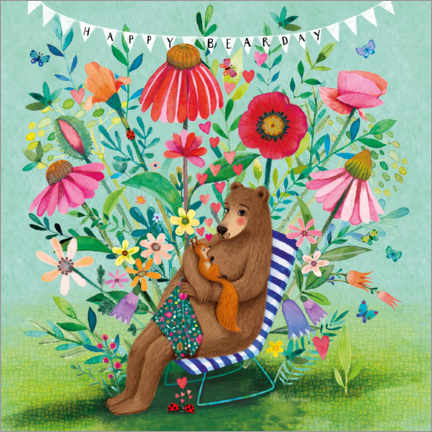 Gallery print  Bear and squirrel - Mila Marquis