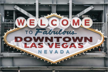 Canvas print  American West - Welcome to Las Vegas - Philippe HUGONNARD