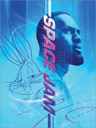 Premium poster  Space Jam 2 - LeBron James and Bugs Bunny