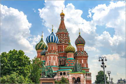 Canvas print  St. Basil's Cathedral in Moscow III - HADYPHOTO