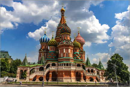 Canvas print  St. Basil's Cathedral in Moscow II - HADYPHOTO