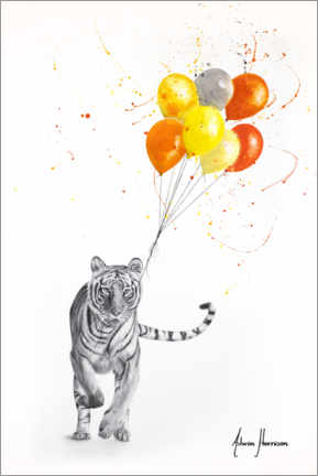 Premium poster The Tiger and The Balloons