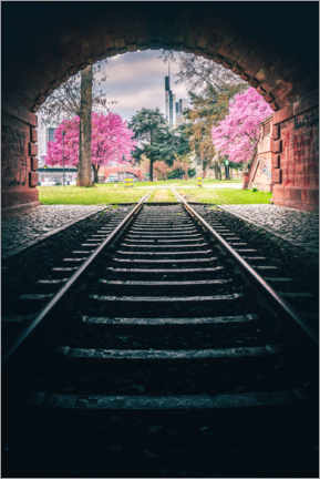 Canvas print  View from the tunnel in Frankfurt - Jan Wehnert
