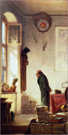 Canvas print  The Cactus Lover - Carl Spitzweg
