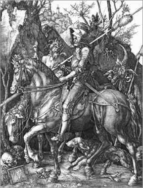 Canvas print  Knight, Death and the Devil - Albrecht Dürer