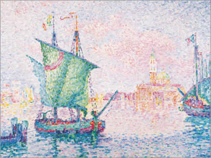Premium poster  Venice - the pink cloud - Paul Signac