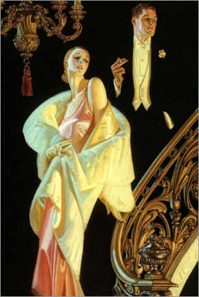 Premium poster  Couple in formal wear - Joseph Christian Leyendecker