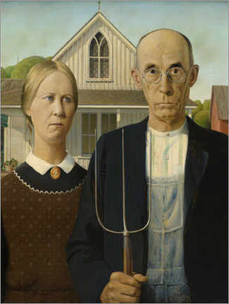 Gallery print  American Gothic - Grant Wood
