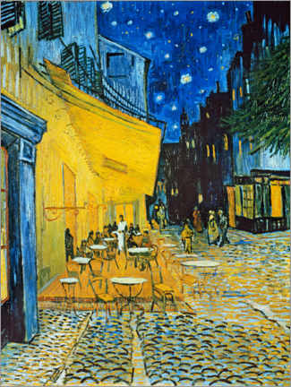 Premium poster  Cafe terrace at Place du Forum, Arles in the evening - Vincent van Gogh