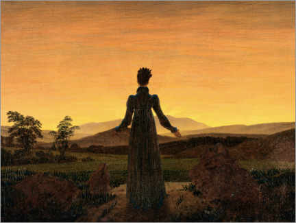 Canvas print  Woman in the morning sun - Caspar David Friedrich